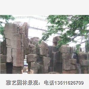 中国石雕古代树盆六角
