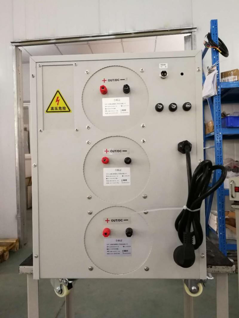无锡450V90A直流恒压电源/0-72V900A直流恒压电源无锡450V90A72V900A直流恒压电源 比如:设备是160kW设备,为兼顾设备造价与运行可靠性,初步方案是分8个功率组元。其中一个功率组元发生故障后,另外7个功率组元仍能全功率输80V/2kA(160kW)。所以,每个组元输电流是286A(2000/72.